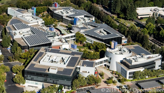 Googleplex Google Headquarters Aerial